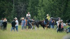 Filming 10x09 - A Horse with No Rider