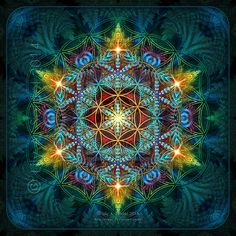 Flower of Life Fractal Mandala by Lilyas on deviantART