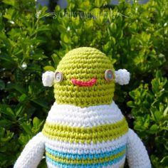 Cute Handmade Crochet ROBOT Y by CharlesinNeedleland on Etsy