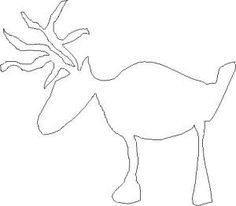 Reindeer Stencil - © Marion Boddy-Evans. Licensed to About.com, Inc. Free for personal, non-commercial use only.
