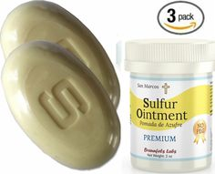 3 PACK- 10% Sulfur Ointment   (2) 10% Sulfur Soap, Go All Natural ! ZERO PEG ** To view further for this item, visit the image link.