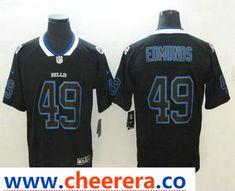 b81ef3ec457 Men's Buffalo Bills #49 Tremaine Edmunds 2018 Black Lights Out Color Rush  Stitched NFL Nike