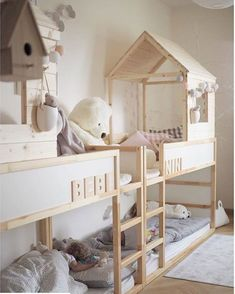 Kinderzimmer IKEA KURA house bed: The best ideas for sleeping under the roof Introduction on how to Cama Ikea Kura, Ikea Kura Hack, Ikea Bunk Bed Hack, Ikea Hack Kids, Ikea Bedroom, Girls Bedroom, Ikea Baby Room, Lego Bedroom, Childs Bedroom