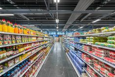 Traq is more then a simple industry lighting solution. Traq is effienct, meets a lot of standards and regulations, is multiple, easy to install and deliveres light, where it is needed, thanks to the variaty of LED optics. Here an example from a Coop supermarket.