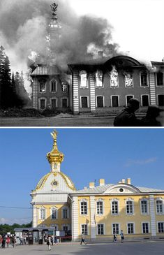 30 Before & After Photos That Show How Much Europe Has Changed Over Time - Funtertainments Syria Before And After, Before After Photo, Before And After Pictures, Herbert Von Karajan, Canadian Soldiers, American Soldiers, Monuments, Paris In September, Rome Pictures
