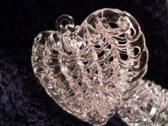 Wedding Spun Glass Crystal Glass Heart by PerfectlyGoodStuff, $5.00