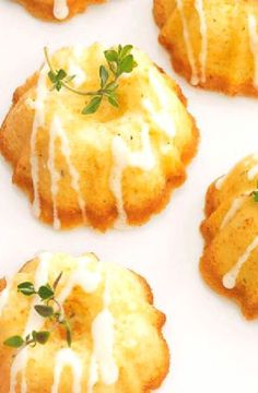 Low FODMAP Recipe and Gluten Free Recipe - Mini lemon and thyme drizzle cakes  http://www.ibs-health.com/low_fodmap_mini_lemon_thyme_drizzle_cakes.html
