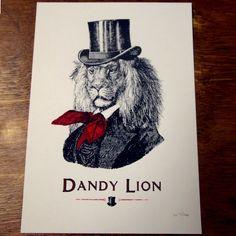 Dandy Lion print