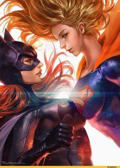 Batgirl,Бэтгерл, Оракл, Барбара Гордон,Bat Family,Бэт семья,DC Comics,DC Universe, Вселенная ДиСи,фэндомы,Supergirl,Супергерл, Кара Зор-Эл, Кара Кент,kamiyamark