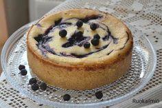Ruokailmiö: Valkosuklainen mustikkakakku Food N, Food And Drink, Yummy Food, Tasty, Piece Of Cakes, Something Sweet, Sweet Recipes, Cake Decorating, Bakery
