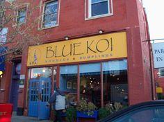 Blue Koi Noodles & Dumplings, Kansas City. MUST TRY chili pepper won tons, Firebird chicken
