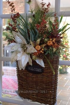 A-DOORABLE Christmas BASKET by margery