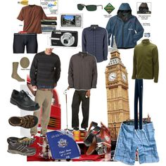 """""""Men's Travel Pack List"""" by bdjtbenson on Polyvore"""