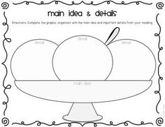 Main Idea and Supporting Details Organizer