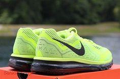 Authentic New Mens Nike Air Max 2014 Running Volt Black 10 621077 700 e7f9499dc