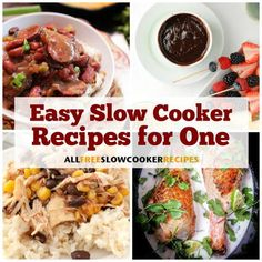 11 Easy Slow Cooker Recipes for One - my list of delicious and healthy recipes Small Crockpot Recipes, Slow Cooker Recipes, Cooking Recipes, Healthy Recipes, Batch Cooking, Crockpot Meals, Slow Cooking, Freezer Meals, Cooking Ideas