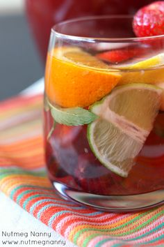 Sparkling Summer Sangria 1 cup brandy 1/2 cup orange liqueur 1/4 cup superfine sugar 1 lemon, sliced 1 lime, sliced 1 orange, sliced 1/3 cup sliced strawberries 1/3 ...