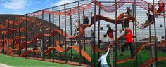 hanging rope art fir children to climb on - Google Search