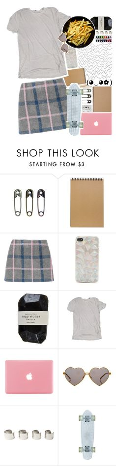 """""""Getting my hair braided up today"""" by biteesizedd ❤ liked on Polyvore featuring Tim Holtz, Muji, With Love From CA, The Body Shop, Cassia, James Perse, Wildfox and Maison Margiela"""