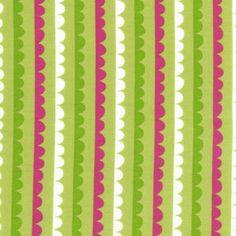 Scalloped Stripes in Kiwi Fabric from Robert Kaufman - 1 yard.