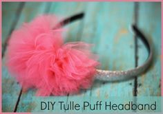 Love this tulle puff headband!