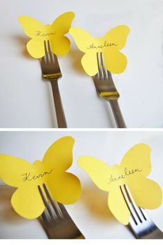 love this idea for place cards but with a butterfly phobia i doubt i would use those specific cut outs! hahalove this idea for place cards but with a butterfly phobia i doubt i would use those specific cut outs! Butterfly Place, Butterfly Cutout, Simple Butterfly, Butterfly Party, Butterfly Wedding Theme, Tea Party Birthday, Birthday Morning, Partys, Diy Party Decorations