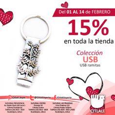 Aprovecha, tenemos toda la tienda al 15% de descuento hasta el 14 de febrero. Regala amor, regala joyería Citlali.