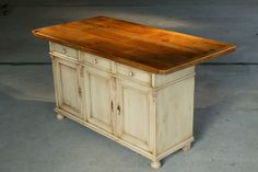 DIY Use an old dresser and repurpose it as a kitchen island