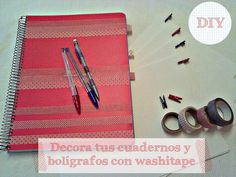 Decorar cuadernos con washi-tape