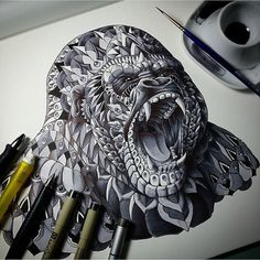Complex, Tattoo-Style Animal Illustrations That Will Look Amazing On Skin