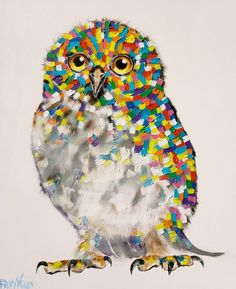 Hoot120cm x 100cmAcrylic on Canvas another by Tracey Keller