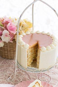 Pastel de caramelo y crema