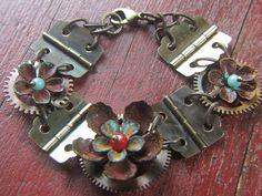 Convertible steampunk bracelet or necklace.