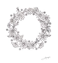 There's a new ring bearer's pillow in progress over here. I have dreamt this one on cream silk, with lots of fresh daisies and... a tiny dra...
