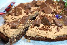 Ploppkladdkaka Single Layer Cakes, Fika, Chocolate Cake, Nom Nom, Cheesecake, Frozen, Food And Drink, Sweets, Snacks