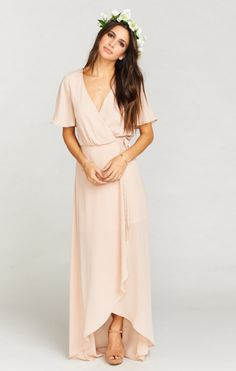online shopping for Show Me Your Mumu Sophia Wrap Dress from top store. See new offer for Show Me Your Mumu Sophia Wrap Dress Bridesmade Dresses, Bridesmaid Dresses With Sleeves, Blush Dresses, Long Blush Dress, Blush Dress With Sleeves, Mob Dresses, Formal Dresses, Buy Dress, Wrap Dress