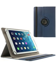 Universele Tablet Rotary Stand Case 9-10.1 Inch Donker Blauw