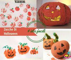 zucche di Halloween: 4 modi per disegnare la zucca da 1 anno fino a 5. Jack O' Lantern facile senza avere una zucca
