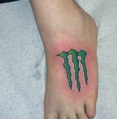 Monster energy tattoo