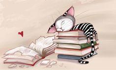 Qué atracón de lectura! (ilustración de Gabillustrator)