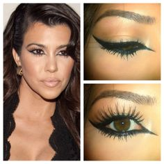 Kourtney Kardashian makeup tutorial :)
