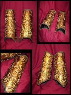 Elfin Gauntlet Bracers. wow, i am not sure if they are leather, but..wow.