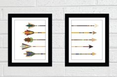 TWO Print Arrow Collages  Poster Print  Fine by TheCuriousNickel, $32.00