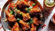 Crab Fat–Caramel Wings Recipe   Bon Appetit