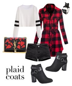 Plaid Fab by meliemoo on Polyvore featuring polyvore, fashion, style, Avenue, Yves Saint Laurent and clothing