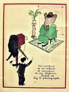"""Happy with his purchases and satisfied with his elegance, Babar goes to the photographer's house..."""