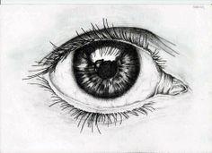 1º teste de desenho de olho realista
