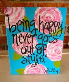 Hand Painted Lilly Pulitzer First Impression by CraftsByCarlie, $17.00