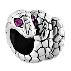 3b1c71305 Birthstone Twisted Snake Purple Rhinestone Crystal Eyes?? Animal Beads  Charms Bracelets Fit All Brands, Charms Beads, Material Charms Beads |  Pugster.com