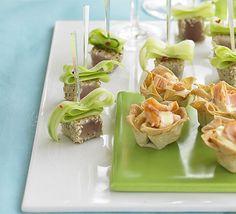 Seared sesame-crusted tuna  These sophisticated little bites of seared tuna are super speedy to prepare